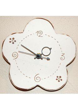 Zegar kwiatek biały