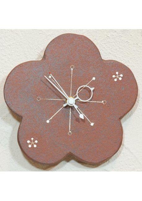 Zegar kwiatek brązowy