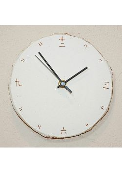 Zegar kanji biały mały