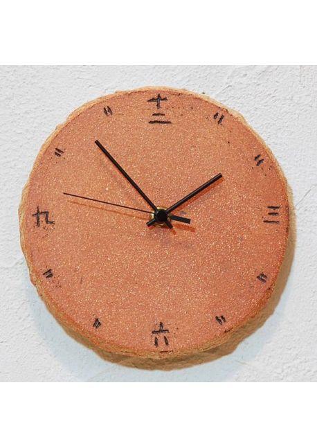Zegar kanji pomarańczowy mały