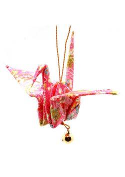 Ozdoba wisząca żuraw różowy