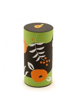 Poppy flowers tea tin dark