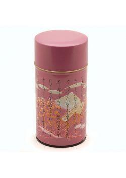 Kanji tea tin violet