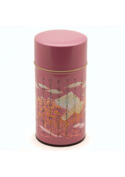 Puszka na herbatę kanji fioletowa