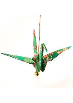Ozdoba wisząca żuraw zielony
