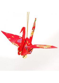 Ozdoba wisząca żuraw czerwony