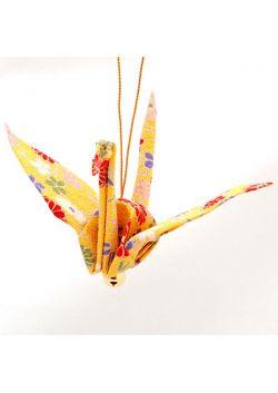 Ozdoba wisząca żuraw żółty