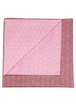 Furoshiki dwustronna bordowo - różowa S