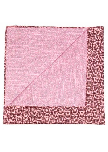 Furoshiki reversible burgundy - pink S