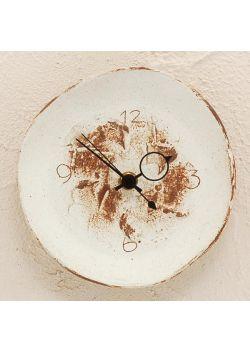 Zegar biało-brązowy mały