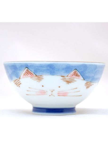 Miseczka porcelanowa neko niebieska