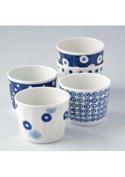 Komplet czarek porcelanowych