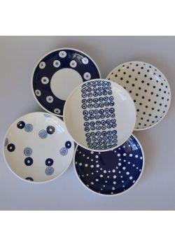 Talerzyki porcelanowe Indigo Japan