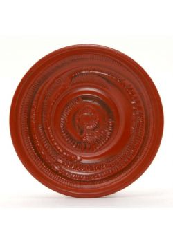 "Plastic saucer ""wood"" red"