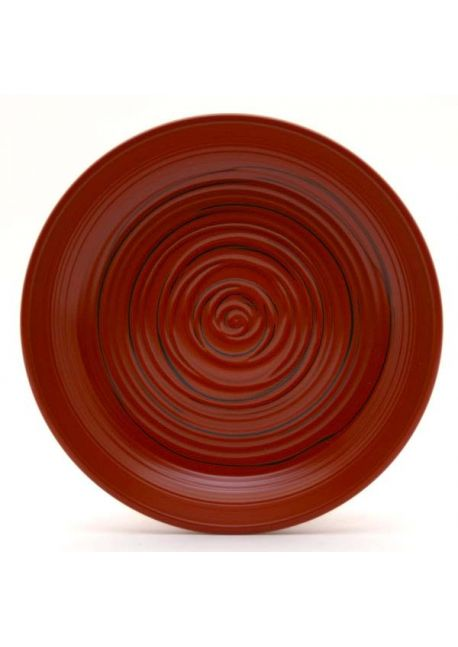 Plastic saucer red and black