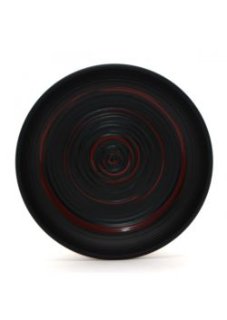 Plastic saucer black and red