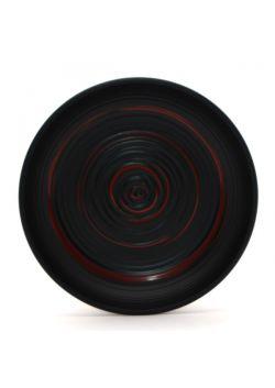 Talerzyk czarno - czerwony