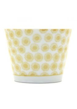 Porcelain teacup yellow pattern