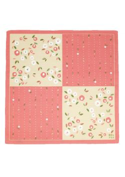 Furoshiki tsubaki różowa