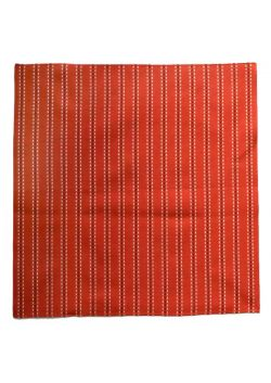 Furoshiki sashiko red stripes