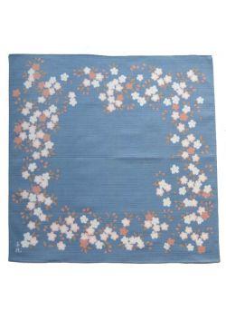 Furoshiki kyokkouzakura Chiyo Uno blue