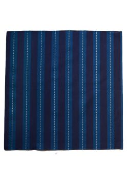 Furoshiki sashiko navy blue stripes