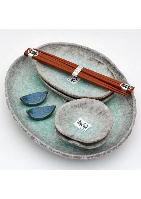 Komplet do sushi niebieski