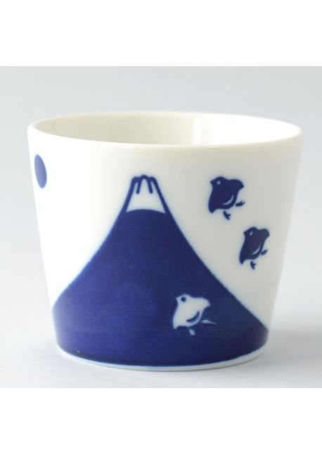Porcelain teacup chidori fuji soba choko