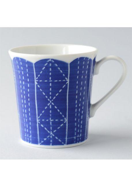 Porcelain mug sashiko