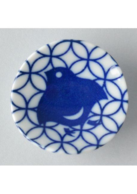 Porcelain chopsticks rest chidori shippo