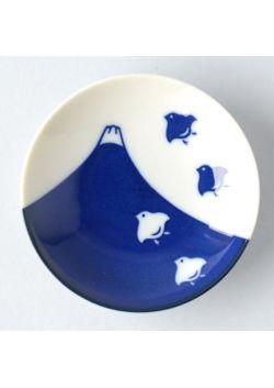 Porcelain saucer chidori fuji