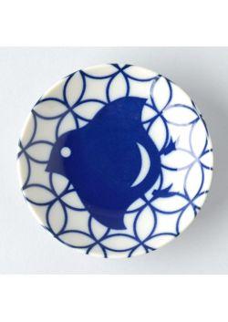 Porcelain saucer chidori shippo