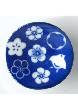 Porcelain saucer chidori ume