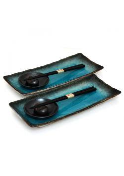 Turquoise sushi set