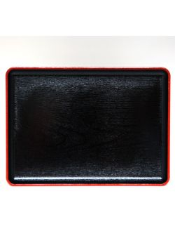 Taca prostokątna czarna mokusei