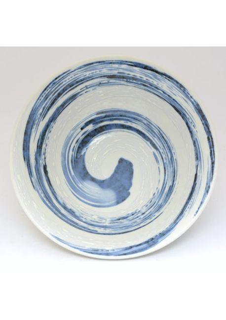 Miska  na ramen niebieska uzu