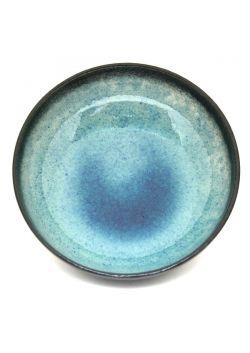 Black - turquoise bowl
