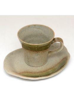Sand shade oribe nagashi teacup