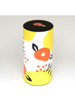 Poppy flowers tea tin light