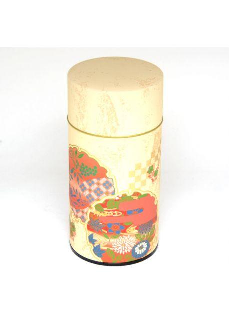 Hanazono tea tin red