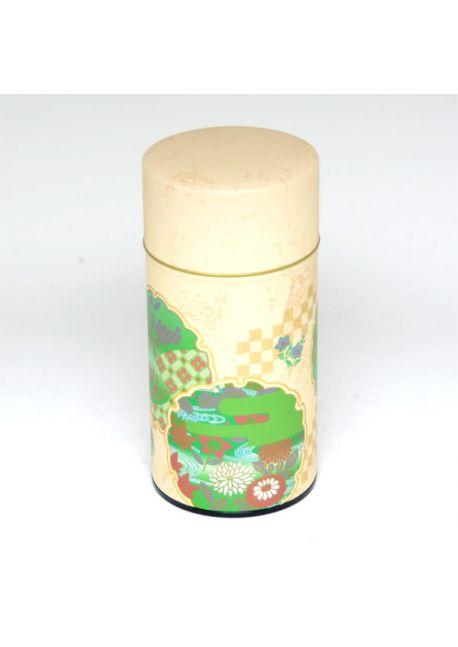 Hanazono tea tin green