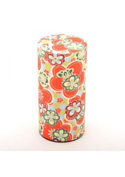 Hannari tea tin red