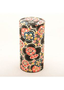 Hannari tea tin black