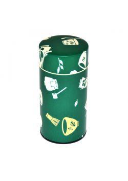 Chaki tea tin green