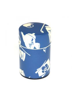 Chaki tea tin navy small