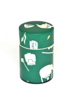 Chaki tea tin green small
