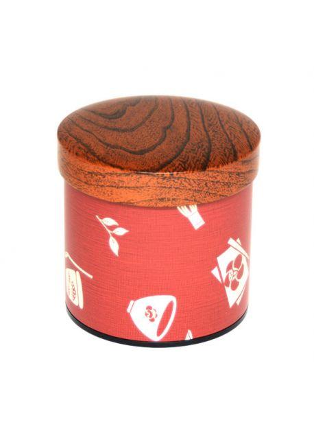 Chaki tea tin burgundy medium