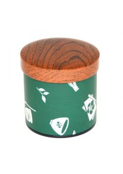 Chaki tea tin green medium