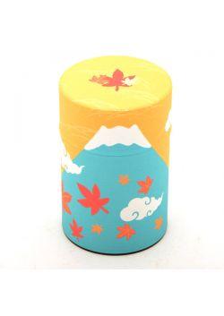 Fuji-san tea tin autumn