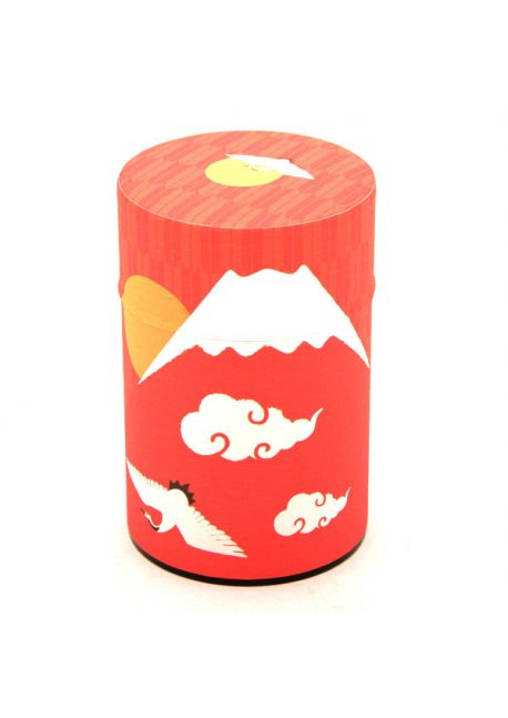 Fuji-san tea tin winter